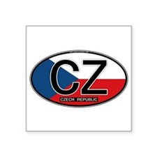Czech Republic Euro Oval Sticker
