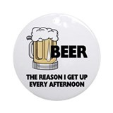 Beer Every Afternoon Ornament (Round)