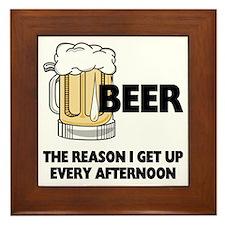 Beer Every Afternoon Framed Tile