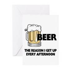 Beer Every Afternoon Greeting Cards (Pk of 10)