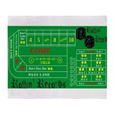 Rollin Records Craps Table Throw Blanket