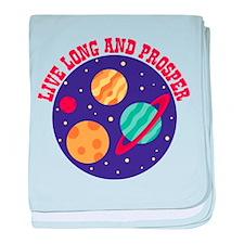LIVE LONG AND PROSPER baby blanket