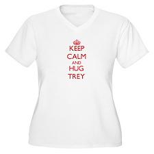 Keep Calm and HUG Trey Plus Size T-Shirt