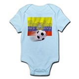 Soccer Flag Ecuador Infant Bodysuit