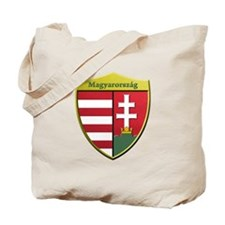 Hungary Metallic Shield Tote Bag