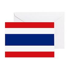 Thailand Flag Greeting Card