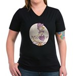 Mother Goose Women's V-Neck Dark T-Shirt