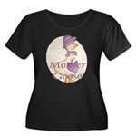 Mother Goose Women's Plus Size Scoop Neck Dark T-S