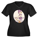 Mother Goose Women's Plus Size V-Neck Dark T-Shirt