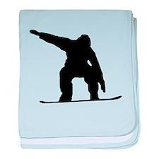 Snowboarder Silhouette baby blanket