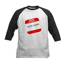 Custom Red Name Tag Baseball Jersey