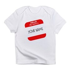 Custom Red Name Tag Infant T-Shirt