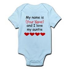 My Name Is And I Love My Auntie Body Suit