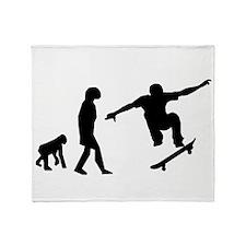 Skateboard Evolution Throw Blanket