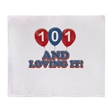 101 and loving it Throw Blanket