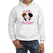 18th Anniversary Paris Couple Hoodie