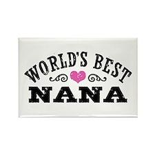 World's Best Nana Ever Rectangle Magnet