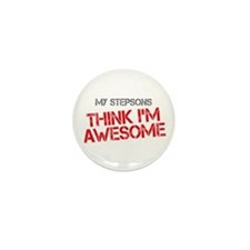 Stepsons Awesome Mini Button (10 pack)