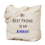 MY BESTFRIEND airman Tote Bag