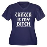 """Cancer is my Bitch"" Women's Plus Size V-Neck Dark"
