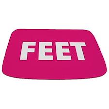 Hot Pink Feet Bathmat