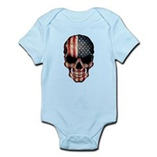American Flag Skull Body Suit