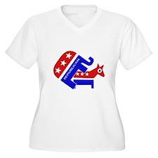 GOP Elephant Humping Donkey T-Shirt