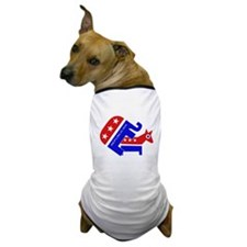 GOP Elephant Humping Donkey Dog T-Shirt
