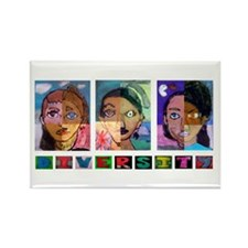 Unique Diversity Rectangle Magnet (100 pack)
