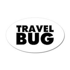 Travel Bug 20x12 Oval Wall Decal