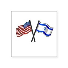 American Israeli Flag Sticker