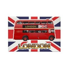 Red Bus Magnets