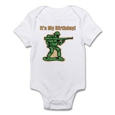 Green Army Men Birthday Infant Bodysuit