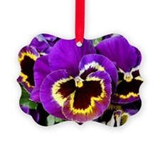 Beautiful purple pansy Ornament
