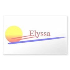 Elyssa Rectangle Decal