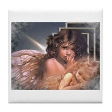 Funny Angel Tile Coaster