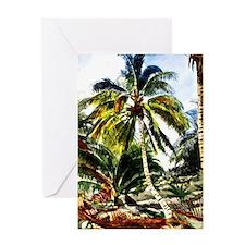 Palm Trees, Bahamas - Winslow Homer  Greeting Card