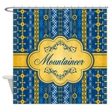 Tribal Tracks Mountaineer Shower Curtain
