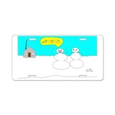 Snow Fart! Aluminum License Plate