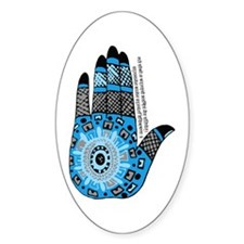 Blue Sanskrit Palm Henna Decal