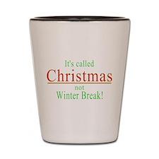 Its Called Christmas Shot Glass