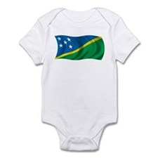 Wavy Solomon Islands Flag Infant Bodysuit