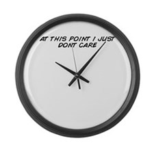 Unique Don't care Large Wall Clock