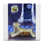 WHEATEN Mom n pups Tile Coaster