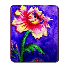 Watercolor flower Mousepad