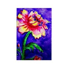 Watercolor flower Rectangle Magnet