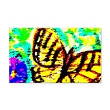 Tiger Swallowtail Butterfly W Rectangle Car Magnet