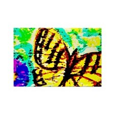 Tiger Swallowtail Butterfly Water Rectangle Magnet