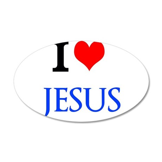 I Love Jesus Wall Decal