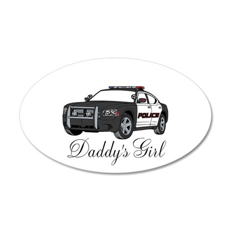 Daddys Girl Police Car Infant Bodysuit Wall Decal
